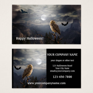 Night Owl Halloween Business Card
