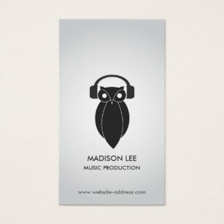 NIGHT OWL in BLACK Business Card