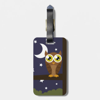 """Night Owl"" Luggage Tag"