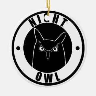 Night Owl Round Ceramic Decoration