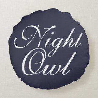 Night Owl Round Cushion