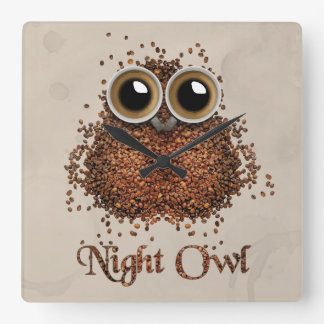 Night Owl Square Wall Clock