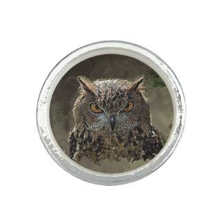 Night Owl Sterling Plt. Ring by Artful Oasis