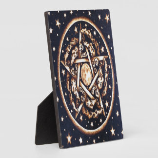 "Night Pentacle 5.25""5.25"" Photo Plaque"
