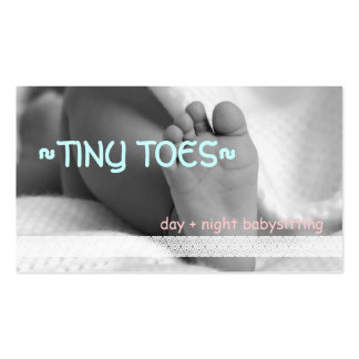 Night PM Nanny Child Day Care Babysitter Business Card Templates