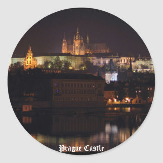 Night Prague Castle Sticker