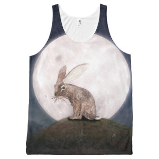 Night Rabbit All-Over Print Tank Top