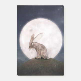 Night Rabbit Post-it Notes