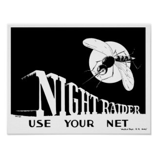Night Raider -- WWII Malaria Poster