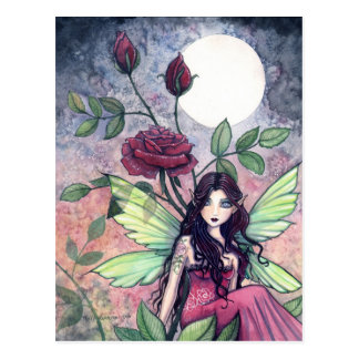 Night Rose Fairy Postcard