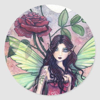 Night Rose Fairy Sticker by Molly Harrison