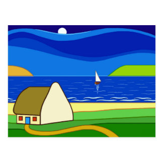 Night Sailing Postcard