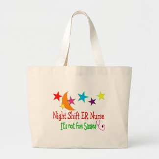 """Night Shift ER NURSE """"It's Not For Sissies"""" Canvas Bags"""