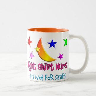 """Night Shift Nurse """"It's Not For Sissies"""" Two-Tone Coffee Mug"""