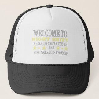 Night shift trucker hat
