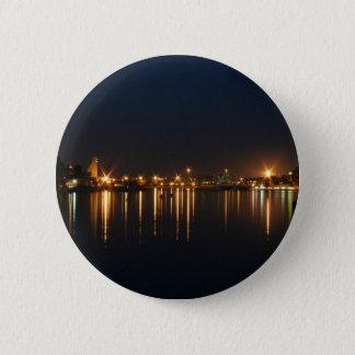 Night shot in Brindisi (Puglia, Italy) 6 Cm Round Badge