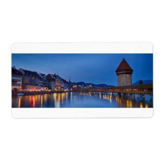 Night sight of Chapel Bridge in Lucerne