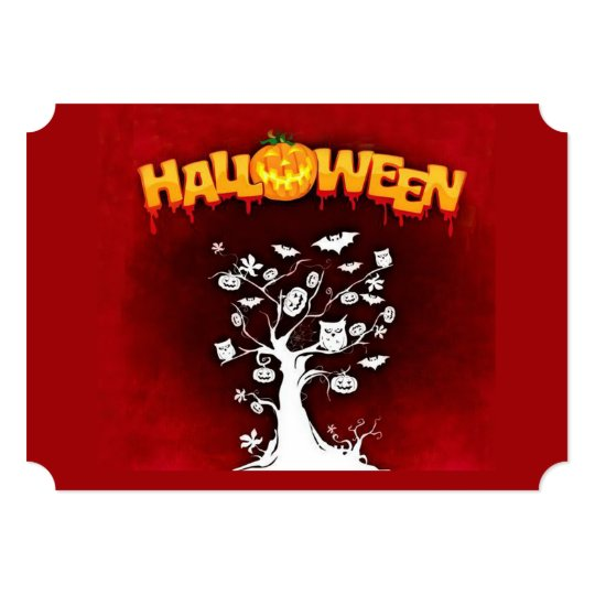 Night Sightings Halloween Party Invitations