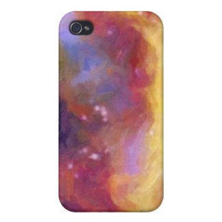 Night Sky Abstract TPD Case For iPhone 4