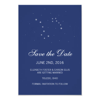 Night Sky Constellations Save the Date Card