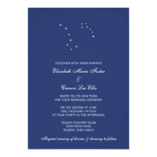 Night Sky Constellations Wedding Card