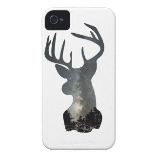 Night sky deer silhouette iPhone 4 Case-Mate cases