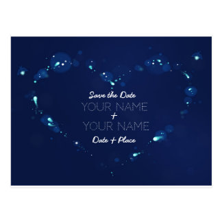 Night sky Firefly Save the Date Card