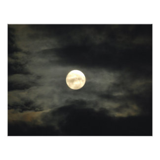 Night Sky - Full Moon and Dark Clouds 21.5 Cm X 28 Cm Flyer