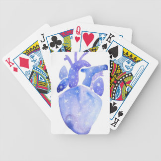 Night Sky Heart Bicycle Playing Cards