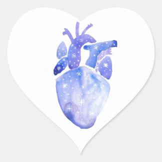 Night Sky Heart Heart Sticker