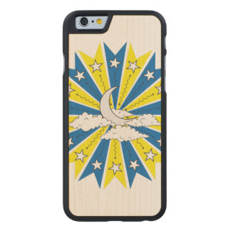 Night Sky Illustration Carved Maple iPhone 6 Case