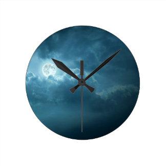 Night Sky Round Clock