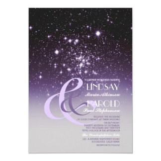 Night Sky Stars Romantic Wedding Invitations