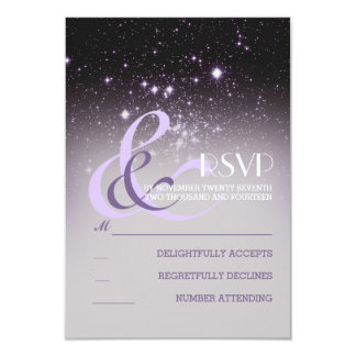 Night Sky Stars Wedding RSVP Cards