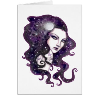 Night Skye Fantasy Celestial Artwork Card