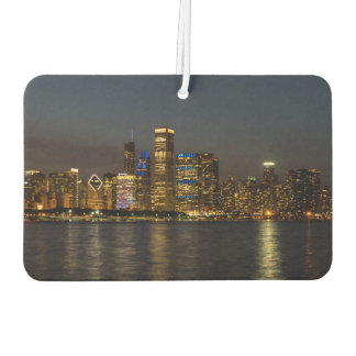 Night Skyline Chicago Pano Car Air Freshener