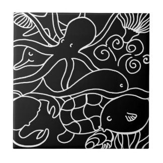 Night Swimming Tile
