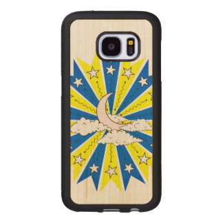 Night Time Dreamscape Illustration Wood Samsung Galaxy S7 Case