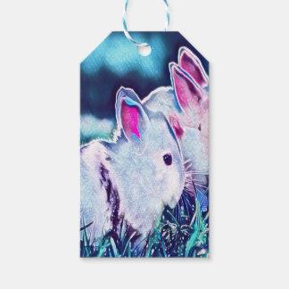 Night Time Dwarf Bunnies Gift Tags
