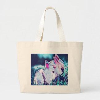 Night Time Dwarf Bunnies Large Tote Bag