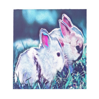 Night Time Dwarf Bunnies Notepad