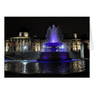 Night time in Trafalgar Square Greeting Card