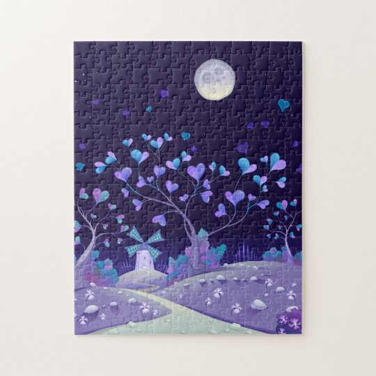 Night Time Love Dreamscape 11x14 Jigsaw Puzzle