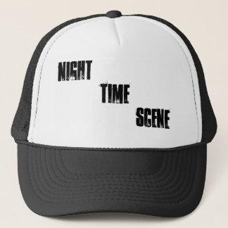 NIGHT TIME SCENE TRUCKER HAT