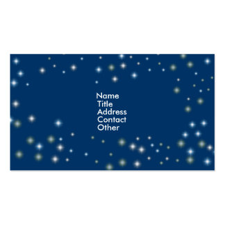 Night Time Stars Pack Of Standard Business Cards