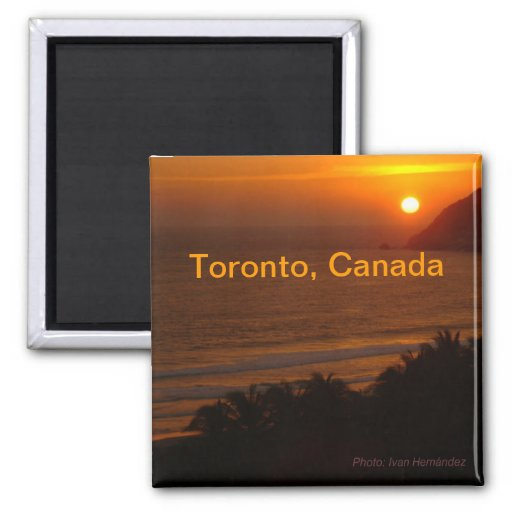 Night Toronto Canada Travel Souvenir Fridge Magnet