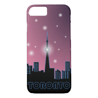 Night Toronto skyline without moon iPhone 7 Case