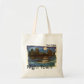 Night town tote bag