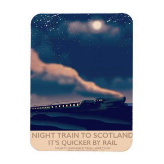 Night train to Scotland Rectangular Photo Magnet