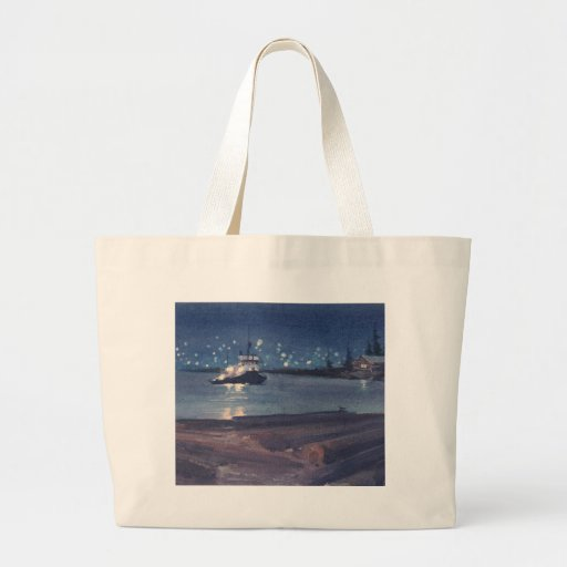 NIGHT TUG by SHARON SHARPE Tote Bags